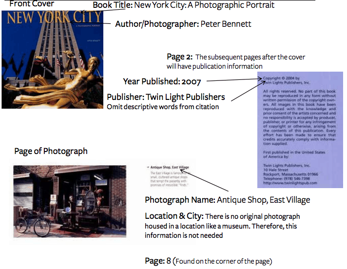 how to cite a photograph in mla 7