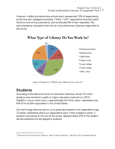 Trends in Information Literacy: Comparative Data