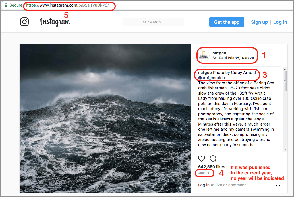 How to cite an instagram - National Geographic