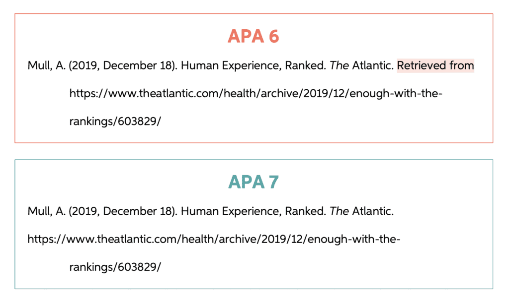 APA 6 vs 7 retrieved citation