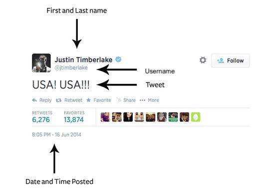Example mla tweet citation